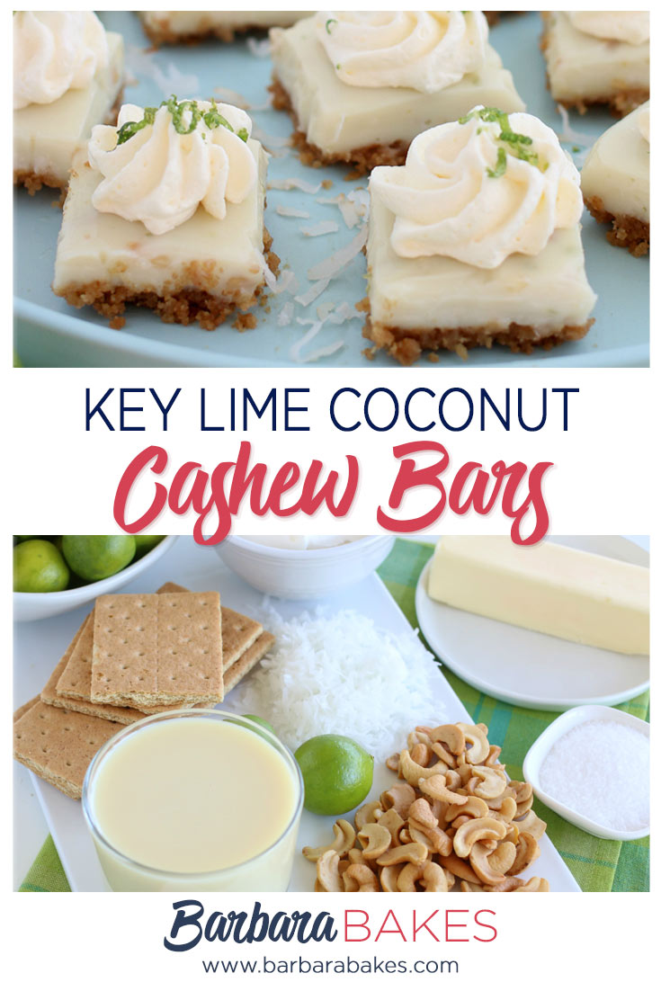 Key Lime Coconut Cashew Bars
