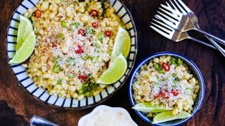 Mexican Corn Salad with Chiles, Lime, and Parmesan